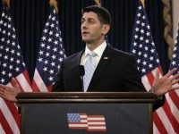 Speaker of the House Rep. Paul Ryan (R-WI) delivers remarks on Capitol Hill March 23, 2016 in Washington, DC.