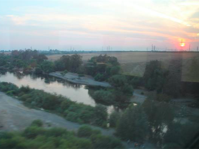 North of Fresno from Amtrak (Joel Pollak / Breitbart News)