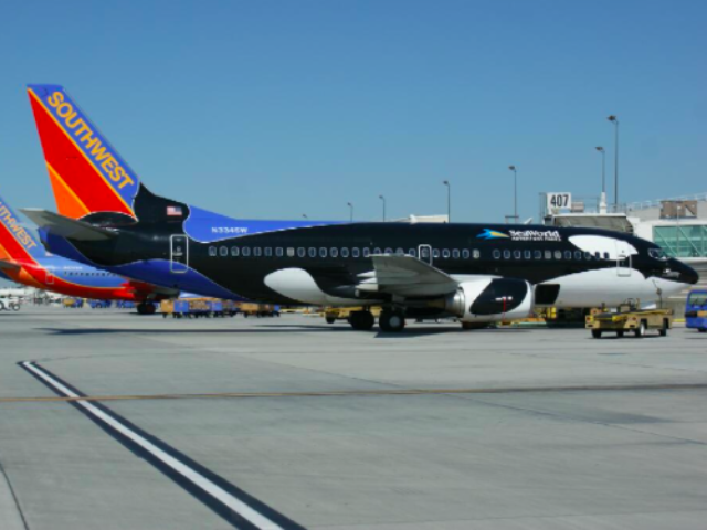 Southwest Shamu at Ontario Airport (flyONTairport / Twitter)