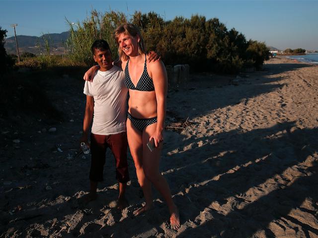 migrant tourists bikini