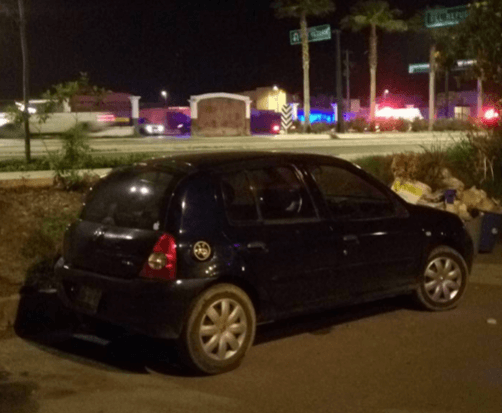 One of the vehicles used by the gunmen during the attack on the casino