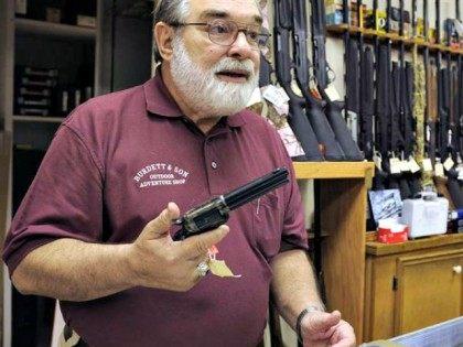 Senior with gun AP