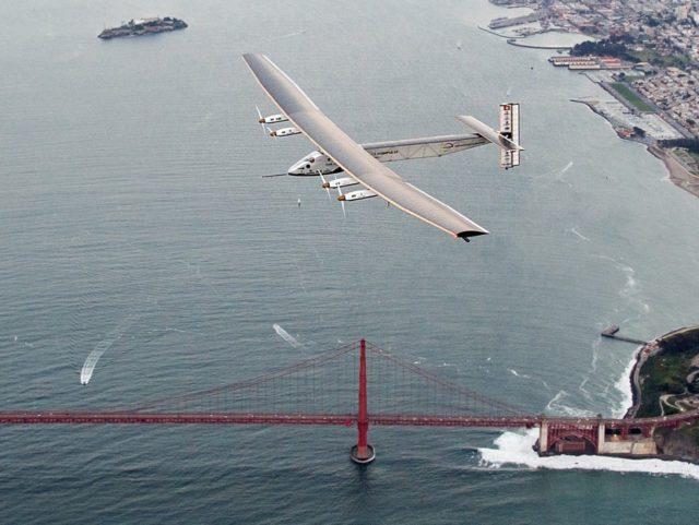 Solar Plane (Noah Berger / Associated Press)