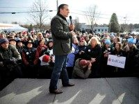 Republican presidential candidate Sen. Ted Cruz, R-Texas speaks Tuesday, Jan. 12, 2016, during a campaign stop at Granite State Indoor Range in Hudson, N.H. (AP Photo/Matt Rourke)