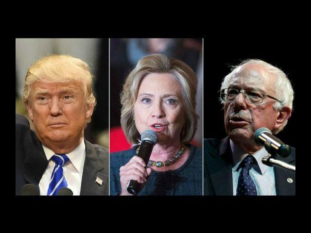 Trump, Clinton, Sanders