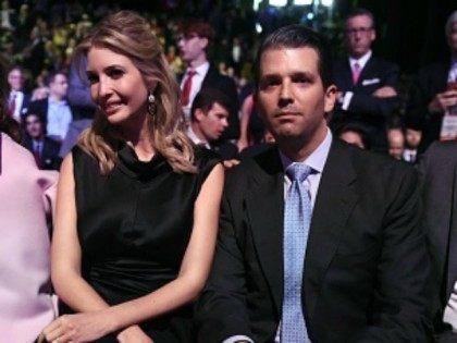 Donald Trump's daughter Ivanka Trump and son Eric Trump October 28, 2015 in Bolder, CO.