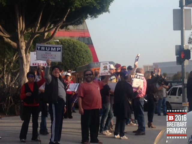 West Hollywood Trump protest (Adelle Nazarian / Breitbart News)