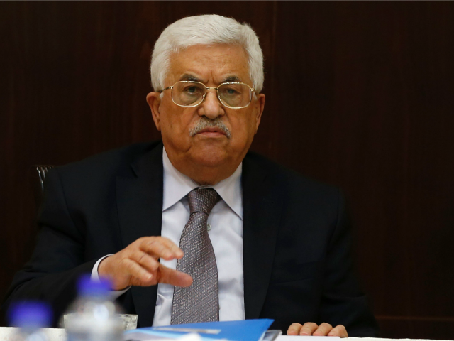 Palestinian president Mahmud Abbas chairs a meeting of the executive committee of the Palestine Liberation Organisation (PLO) in the West Bank city of Ramallah on April 4, 2016.