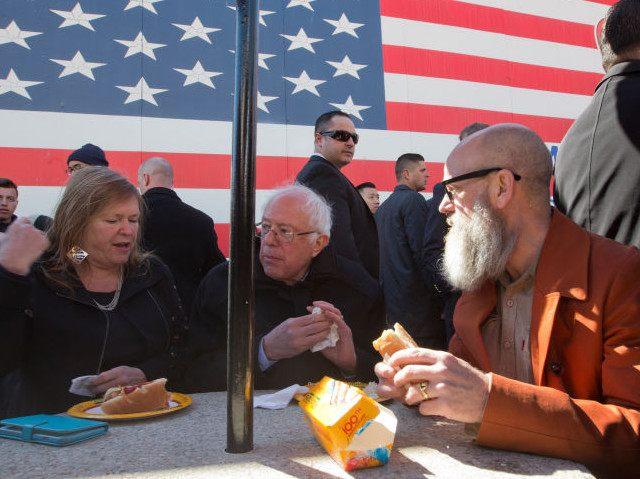 Bernie Sanders hot dogs