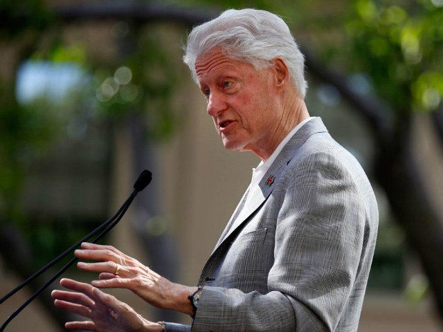 LOS ANGELES, CA - APRIL 3: Former President Bill Clinton stumps for Democratic presidential candidate Hillary Clinton at the Los Angeles Trade - Technical College April 3, 2016 in Los Angeles, California. (Photo by Francine Orr/Los Angeles Times via Getty Images)