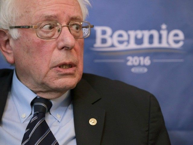 Democratic presidential candidate Sen. Bernie Sanders (I-VT) participates in an internet live stream discussion about putting families first in developing immigration policy at his campaign office December 7, 2015 in Washington, DC.