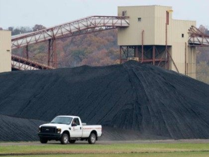 A pile of coal in New Haven, West Virginia, October 30, 2009.