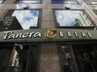 A Panera Bread restaurant is seen in Manhattan on September 11, 2015 in New York. AFP PHOTO/KENA BETANCUR (Photo credit should read KENA BETANCUR/AFP/Getty Images)
