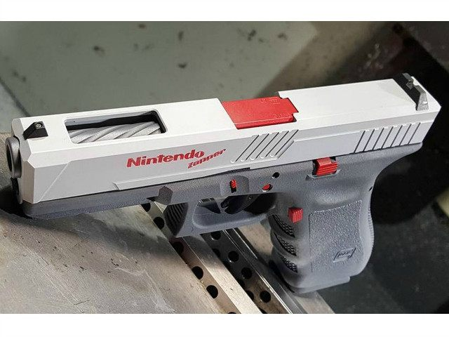 Custom Machine Shop Turns Glock Handgun into Nintendo 'Duck Hunt' Pistol