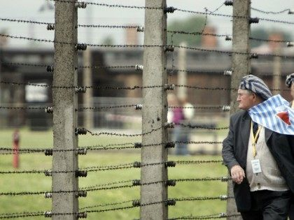 A former inmate of the Nazi death camps arrives for a memorial service to the victims of the former concentration camps of Auschwitz-Birkenau by Pope Benedict XVI on 28 May, 2006, Auschwitz. Poland.