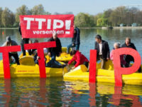 Opponents of a proposed transatlantic trade deal hope to draw …