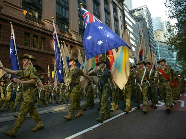Some 3,000 Australians marked Anzac Day on Monday with a …