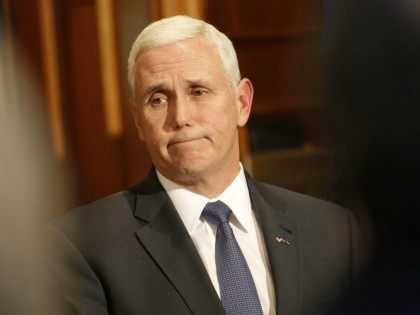 FILE - In this Wednesday, March 2, 2016, file photo, Indiana Gov. Mike Pence speaks at a news conference at the Statehouse in Indianapolis, on the decision of Carrier to move jobs out of Indiana to Mexico. Promising to tear up trade deals and tax imports, Republican presidential candidate Donald …