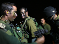 Israeli Defense Force troops prepare to mobilize on January 3, 2009 on the Gaza/ Israel border. The IDF have this evening launched a ground offensive in Gaza in an attempt to take control of Hamas Qassam rocket launch sites in the region. (Photo by Uriel Sinai/Getty Images)