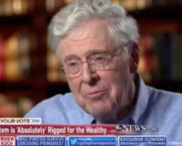 "Sunday on ABC's ""This Week,"" activist and CEO of Koch Industries …"