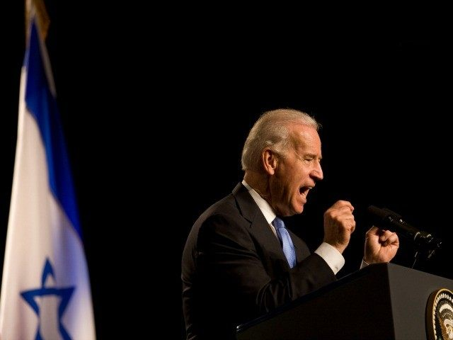 US Vice President Joe Biden gestures during a speech, on March 11, 2010 at the Tel Aviv university, in Israel.