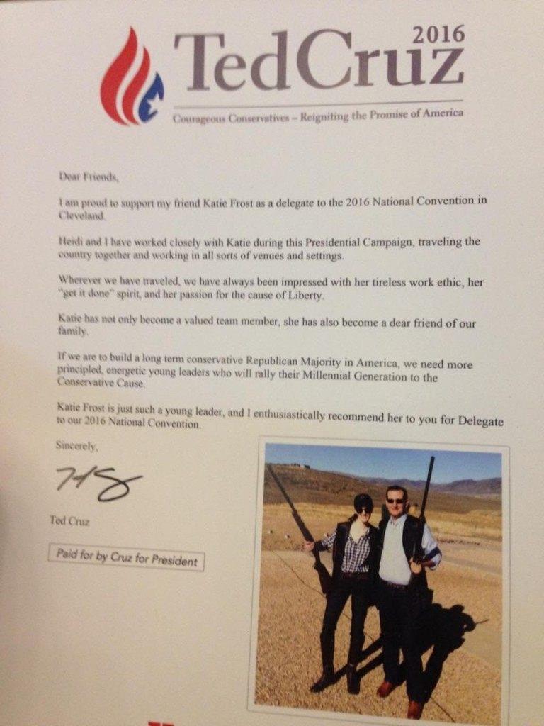 katie Frost Cruz Letter