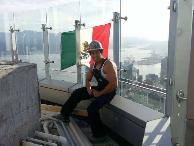 Man Hangs Mexican Flag from Trump Tower in Vancouver