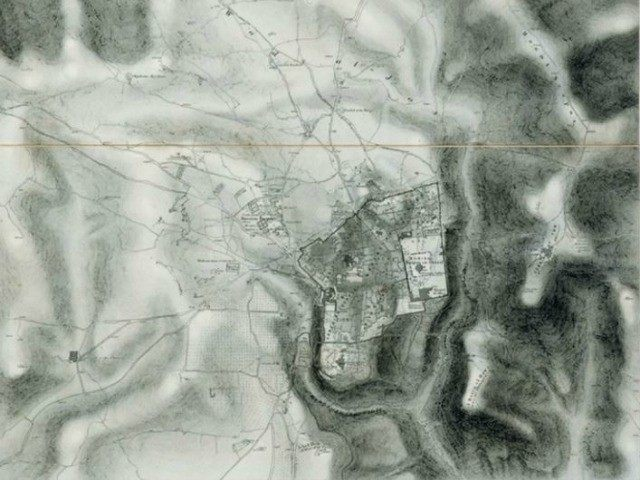 AN IMAGE of one of the maps, which dates from 1864. (photo credit: )