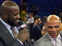 Watch: Shaq, Charles Barkley Wrestle Backstage of 'NBA on TNT' Studio