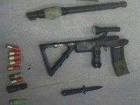 Weapons found on Palestinian suspect who was arrested last month after plotting a shooting attack.