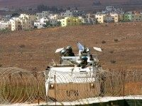 File picture dated October 2, 2008 shows Spanish soldiers of the United Nations Interim Force in Lebanon (UNIFIL) patrolling the divided village of Ghajar on the border between Lebanon and Israeli-occupied Golan Heights.