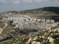 A general view of the Israeli settlement of Givat Zeev near the West Bank city of Ramallah, on April 14, 2016