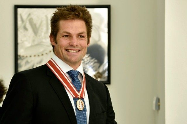 All Blacks legend Richie McCaw was bestowed with the Order of New Zealand (ONZ) which recognises 'outstanding service' to the country
