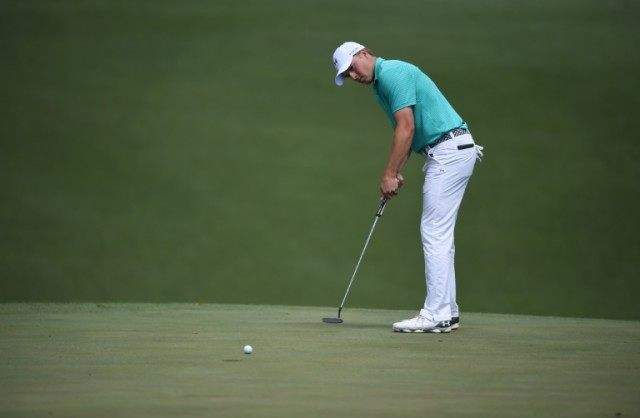 Jordan Spieth of the US putts during round one of the 80th Masters Tournament, at Augusta National Golf Club in Georgia, on April 7, 2016