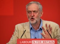 British opposition Labour Party leader Jeremy Corbyn delivers a speech in London on April 14, 2016