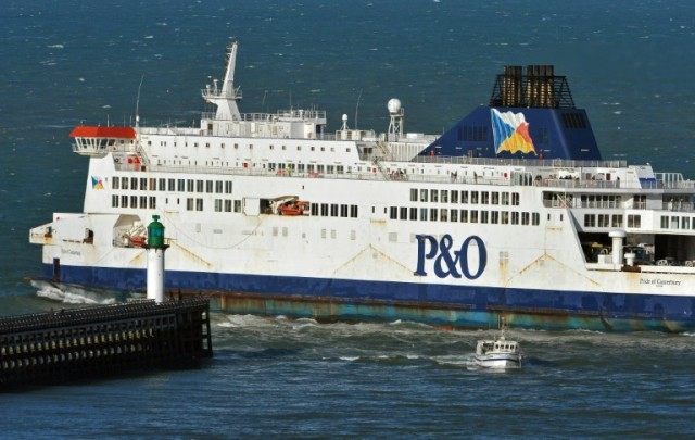 P&O ferry Pride of Canterbury, pictured on January 2, 2012, rescued two Iranian men attempting to cross the English Channel in an inflatable dinghy