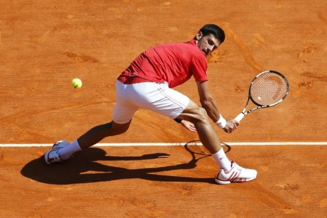 Serbia's Novak Djokovic in action against Czech Republic's Jiri Vesely at the Monte Carlo Masters, April 13, 2015