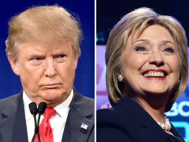 Prior to the 2016 presidential race, Donald Trump (L) and Hillary Clinton had a friendly business, political and personal relationship