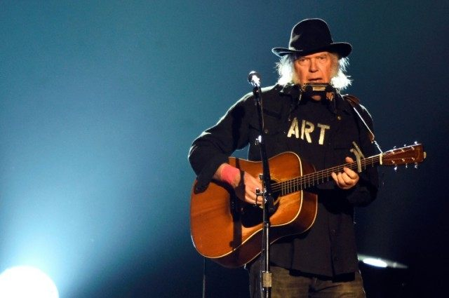 Singer Neil Young, pictured on February 6, 2015, will headline the 50th edition of the Montreux Jazz Festival