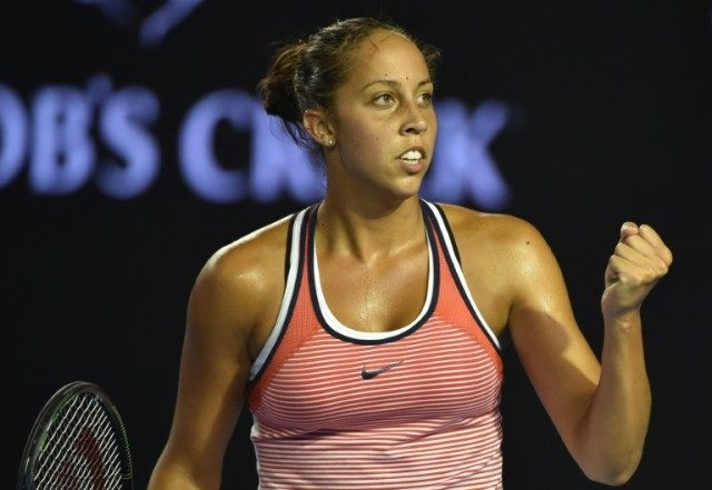Madison Keys pictured during a match at the Australian Open in Melbourne on January 25, 2016