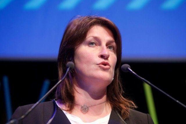 Belgium's Transport Minister Jacqueline Galant
