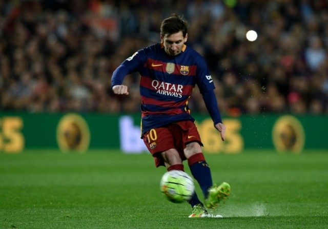 Barcelona's forward Lionel Messi scored his 450th Barca goal in 525 appearances on April 17, 2016