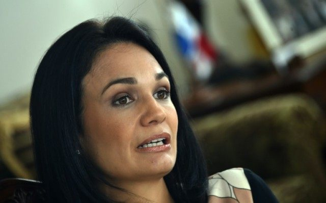 Panamanian Foreign Minister Isabel Saint Malo speaks during an interview with AFP at Bolivar Palace in Panama City, on April 7, 2016