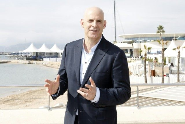 US writer Harlan Coben of television series 'The Five' poses for a photo during the MIPTV, in Cannes, French riviera, on April 4, 2016