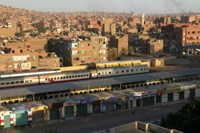 The train station in the southern Egyptian city of Aswan pictured on April 7, 2014