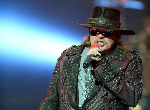 Singer Axl Rose of Guns N' Roses performs on May 21, 2014 in Las Vegas, Nevada