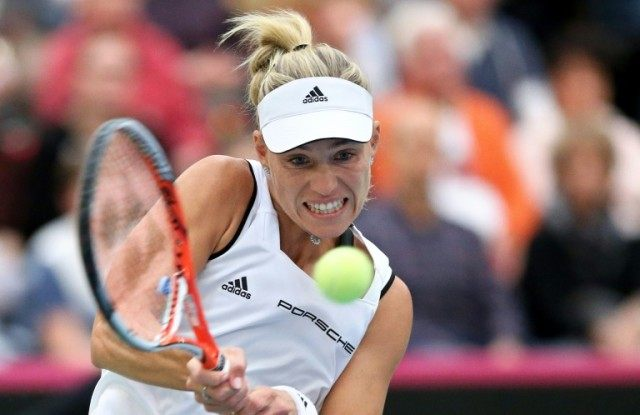 Germany's Angelique Kerber put her country 2-1 up in their Fed Cup play-off against Romania