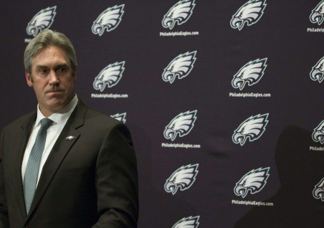 The Philadelphia Eagles head coach Doug Pederson on January 19, 2016