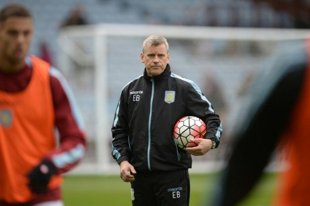 Aston Villa's caretaker manager Eric Black looks on before the English Premier League match against Chelsea at Villa Park in Birmingham, on April 2, 2016
