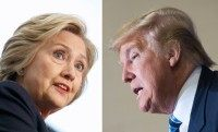 Democratic presidential hopeful Hillary Clinton (left) and Republican hopeful Donald Trump are hoping to secure big wins in the New York presidential primary